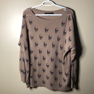 Skull cashmere 100% cashmere oversized sweater